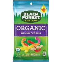 Black Forest Organic Gummy Worms Candy, 4 Ounce, Pack of 1