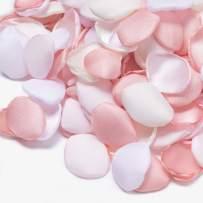 Ling's moment 400PCS Blush Pink Silk Rose Petals Flower Petals for Wedding Flower Girl Table Centerpieces Aisle Confetti Party Bridal Shower Home Decoration