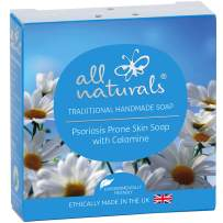 All Naturals Soap Chamomile Pure Organic for Sensitive Skin with Calamine & Luxurious Healing Oils for Sensitive Skin Psoriasis Eczema, 3.5 oz
