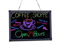 "Alpine Industries LED Illuminated Hanging Message Writing Board (20"" x 28"")"
