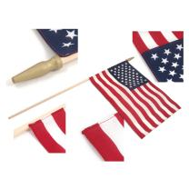 Super Tough Online Stores 12-Pack US Stick Flag and Wood Stick, 12 by 18-Inch