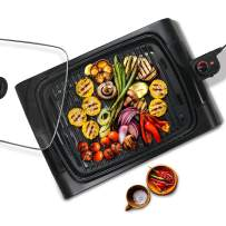 """Maxi-Matic XL Indoor Electric, Nonstick Grilling Surface, Faster Heat Up, Ideal For Meat Fish, Vegetables & Low-Fat Meals, Easy To Clean Design, 16"""" x 12"""" Square"""