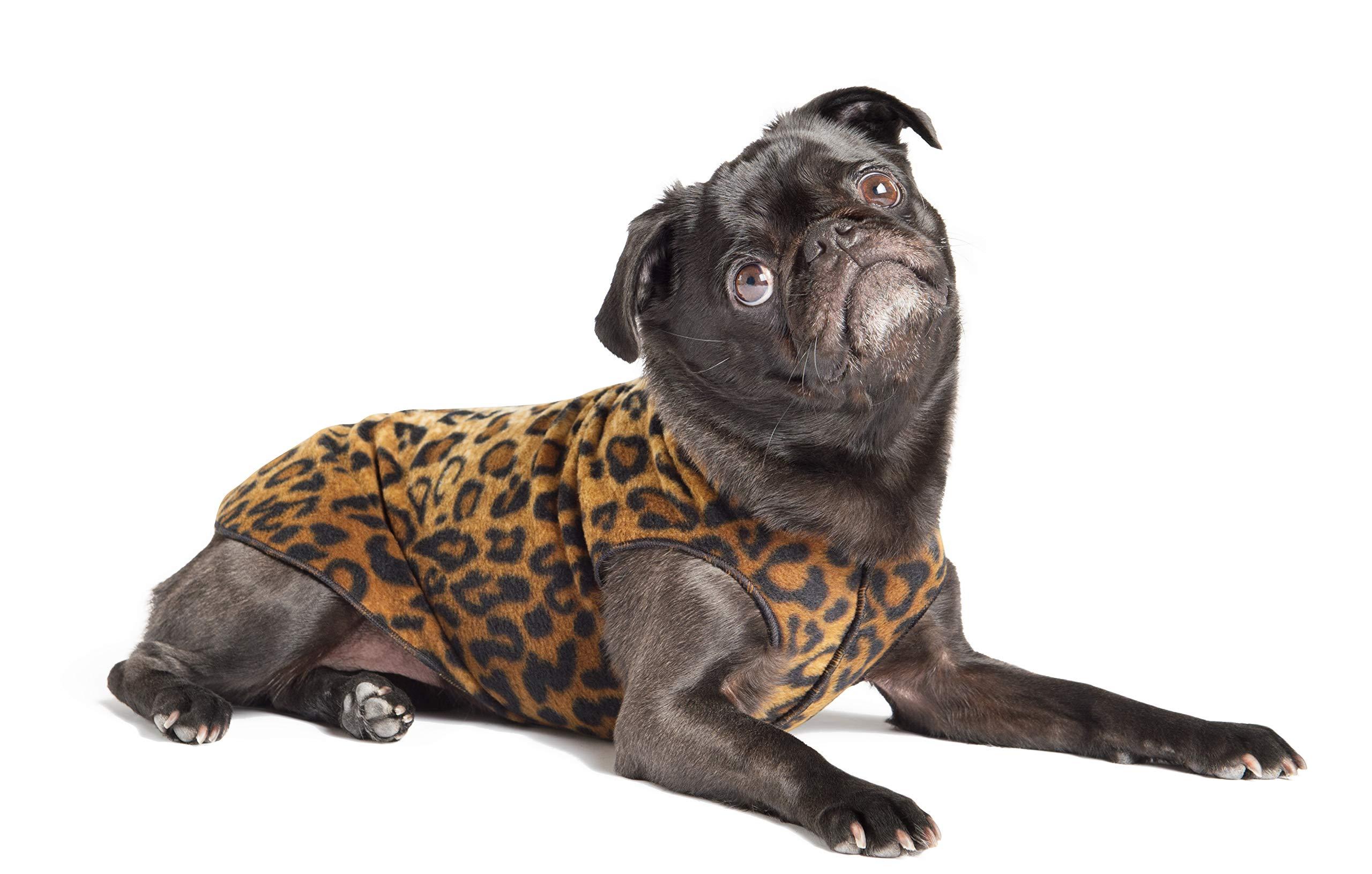 Gold Paw Stretch Fleece Dog Coat – Soft, Warm Dog Clothes, Stretchy Pet Sweater – Machine Washable, Eco Friendly – All Season – Sizes 2-30, Black, Size 2