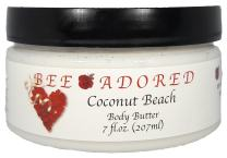 Bee Adored Body Butter, Coconut Beach, 7 Fluid Ounce