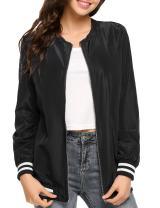 Zeagoo Womens Quilted Biker Jacket Zip up Bomber Jacket Coat