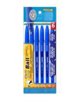 Promarx TC Ball Pro Grip Stick Pen, 1.0 mm, Blue Ink, 6-Count