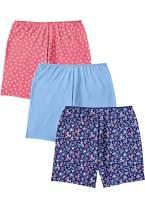 Comfort Choice Women's Plus Size 3-Pack Stretch Cotton Boxer Boyshort by
