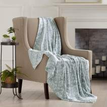 Home Fashion Designs Velvet Plush Soft Throw Blanket (Grey Mist)
