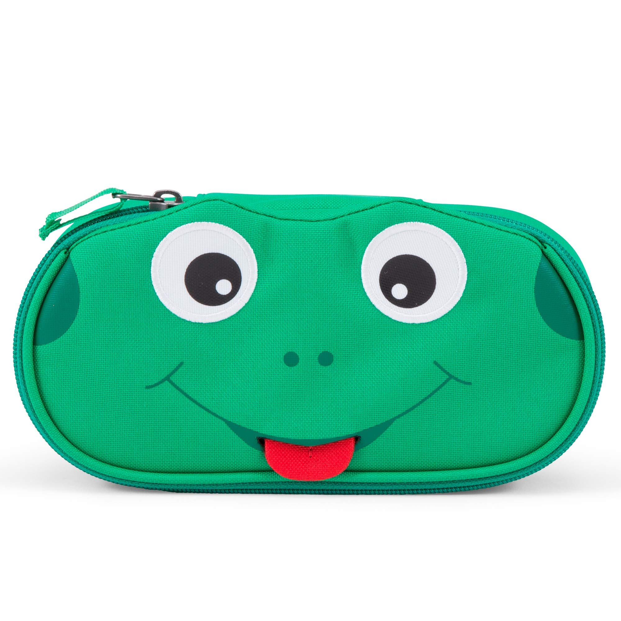 Affenzahn Pencil case for 1-5 Year Old Girls and Boys in Nursery and Kita Fynn Frog