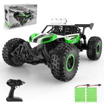RC Cars ,Remote Control Car 1:14 Scale RC ,LED Headlight High-Speed Off Road Trucks ,with 2 Rechargeable Batteries Toys for Kids Adults Boys Gifts (Green)