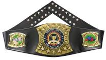 Express Medals Custom Corn Hole Trophy Personalized Championship Leather Belt CH1