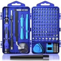 Computer Repair Kit, 122 in 1 Magnetic Laptop Screwdriver Kit, Precision Screwdriver Set, Small Impact Screw Driver Set with Case for Computer, Laptop, PC, for iPhone, iPad, Ps4 DIY Hand Tools -Blue