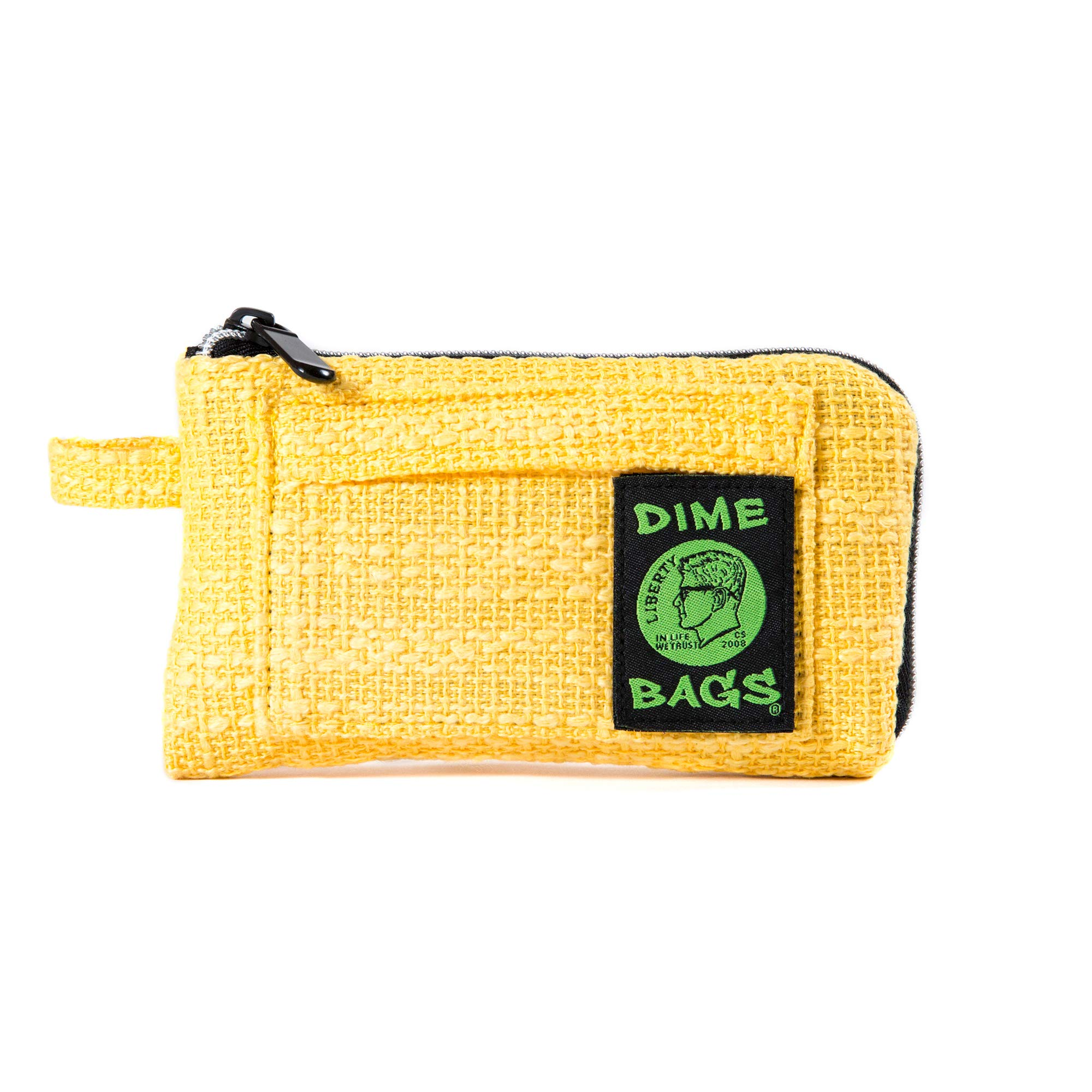 Padded Pouch - Soft Interior with Secure Heavy-Duty Zipper (Yellow, 7-Inch)