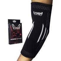 Venom Elbow Brace Compression Sleeve - Elastic Support, Tendonitis Pain, Tennis Elbow, Golfer's Elbow, Arthritis, Bursitis, Basketball, Baseball, Football, Golf, Lifting, Sports, Men, Women (XL)