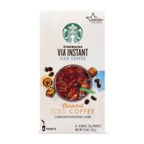 Starbucks VIA Instant Coffee Flavored Packets — Caramel Iced — 100% Arabica — 1 box (6 packets)