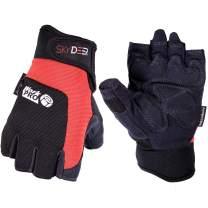 SKYDEER Hi-Performance Synthetic Leather Utility Fingerless Work Gloves (SD8822/L)