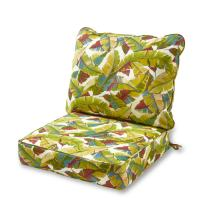 Greendale Home Fashions Deep Seat Cushion Set, Palm Multi