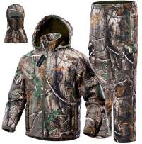 NEW VIEW Upgraded Hunting Clothes for Men,Silent Water Resistant Hunting Suits,Turkey Hunting Jacket and Pants