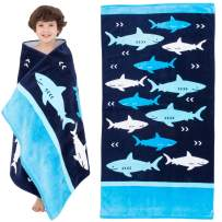 Yayme! Kids Beach Towels for Boys - Shark Beach Towel - Baby Shark Towel - Kids Beach Towel Perfect for Swimming Pool and Bath for Kids and Toddlers - Fun Summer Accessories and Toddler Beach Blanket