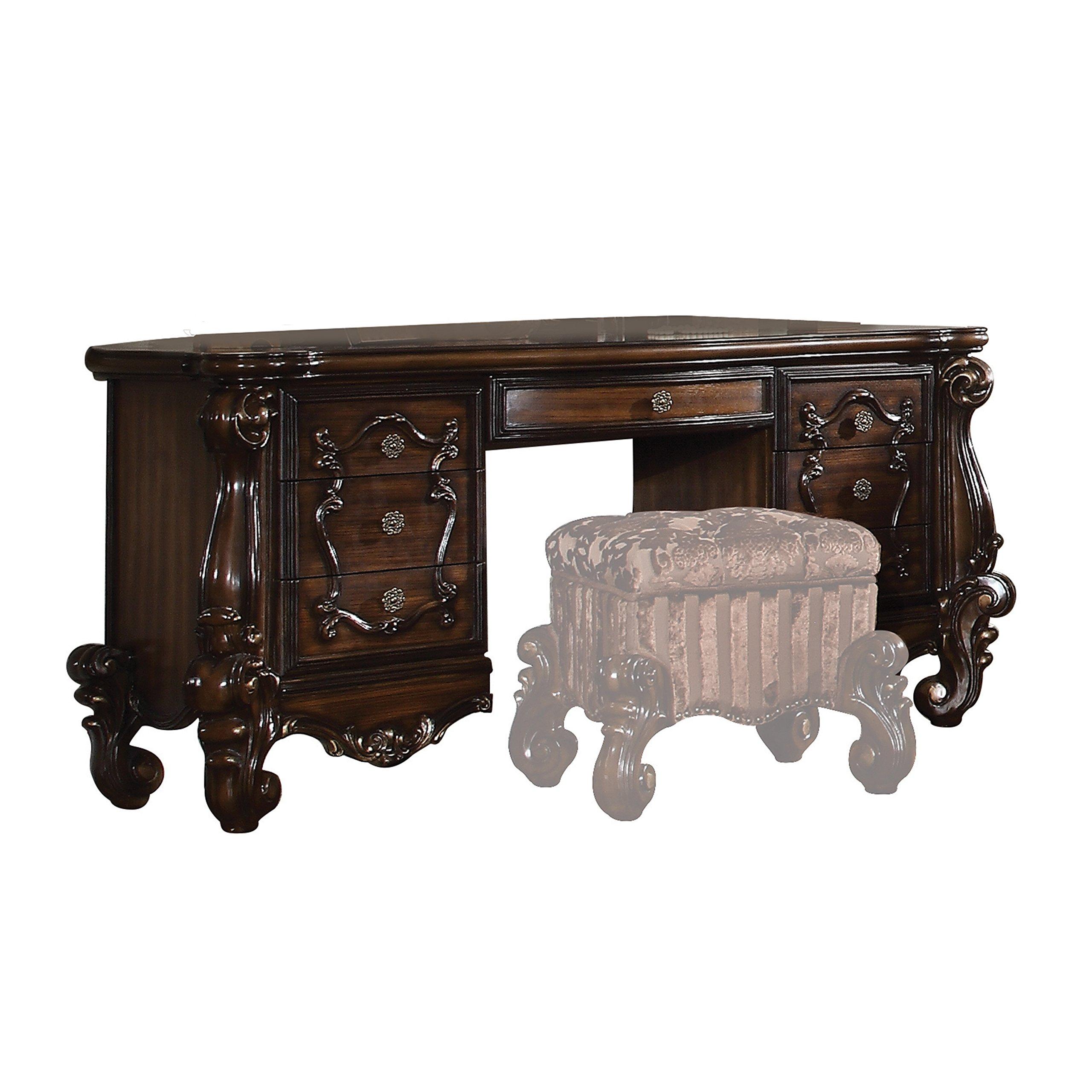 ACME Versailles Cherry Oak Vanity Desk