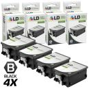 LD Remanufactured Ink Cartridge Replacement for HP 14 C5011DN (Black, 4-Pack)