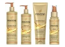 Pantene, Shampoo, Conditioner, Detangling Milk, and Hair Oil Treatment Kit, with Argan Oil, Sulfate Free, Pro-V Gold Series, for Natural and Curly Textured Hair