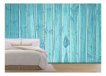 wall26 - Blue Wood Background - Removable Wall Mural | Self-Adhesive Large Wallpaper - 66x96 inches