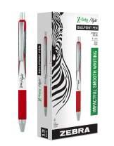 Zebra Pen Z-Grip Flight Retractable Ballpoint Pen, Bold Point, 1.2mm, Red Ink, 12-Count