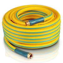 """SuperHandy Garden Water Hose 5/8"""" Inch x 75' Feet Heavy Duty Premium Commercial Ultra Flex Hybrid Polymer Hose Max Pressure 150 PSI/10 BAR with 3/4"""" GHT Fittings"""