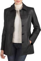 BGSD Women's Megan Lambskin Leather Car Coat (Regular and Plus Size and Short)