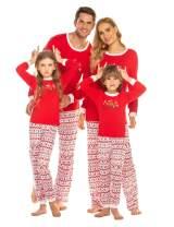 Ekouaer Family Pajamas Sets Christmas PJ's with ELF Printing Long Sleeve Tee Pants Loungewear Sleepwear