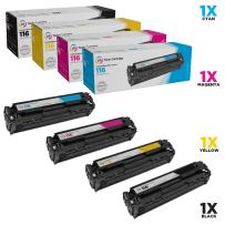 LD Remanufactured Toner Cartridge Replacement for Canon 116 (Black, Cyan, Magenta, Yellow, 4-Pack)