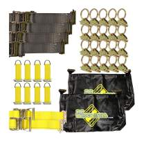 E-Track TieDown Kit: 20 O Rings, 10 TieOffs, 6 Ratchet Straps, 2 ETrack Bags. Ideal TieDown Accessories Package for Trucks, Trailers, Warehouse, Boat, Dock. E-Track NOT Included.