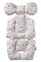 Baby Breathable 3D Air Mesh Organic Cotton Seat Pad Liner for Stroller Bambi Pink