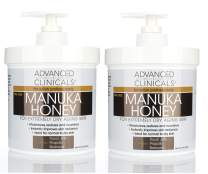 Advanced Clinicals Manuka Honey Cream for Extremely Dry, Aging Skin For Face, Neck, Hands, and Body. Spa Size 16oz (Two - 16oz)