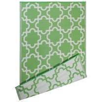 DII Moroccan Indoor/Outdoor Lightweight, Reversible, & Fade Resistant Area Rug, Use For Patio, Deck, Garage, Picnic, Beach, Camping, BBQ, Or Everyday Use - 4 x 6', Bright Green Lattice