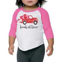 Bump and Beyond Designs Toddler Kids Loads of Love Vintage Truck Unisex Valentine's Day Shirt