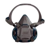 3M Rugged Comfort Half Facepiece Reusable Respirator 6502/49489, Medium, Gray/Teal