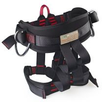 Thicken Wider Climbing Harness, Oumers Protect Waist Version Waistbelt Wider Safe Seat Belts For Mountaineering Fire Rescue Higher Level Caving Rock Climbing Rappelling Equip Women Man Child Half Body