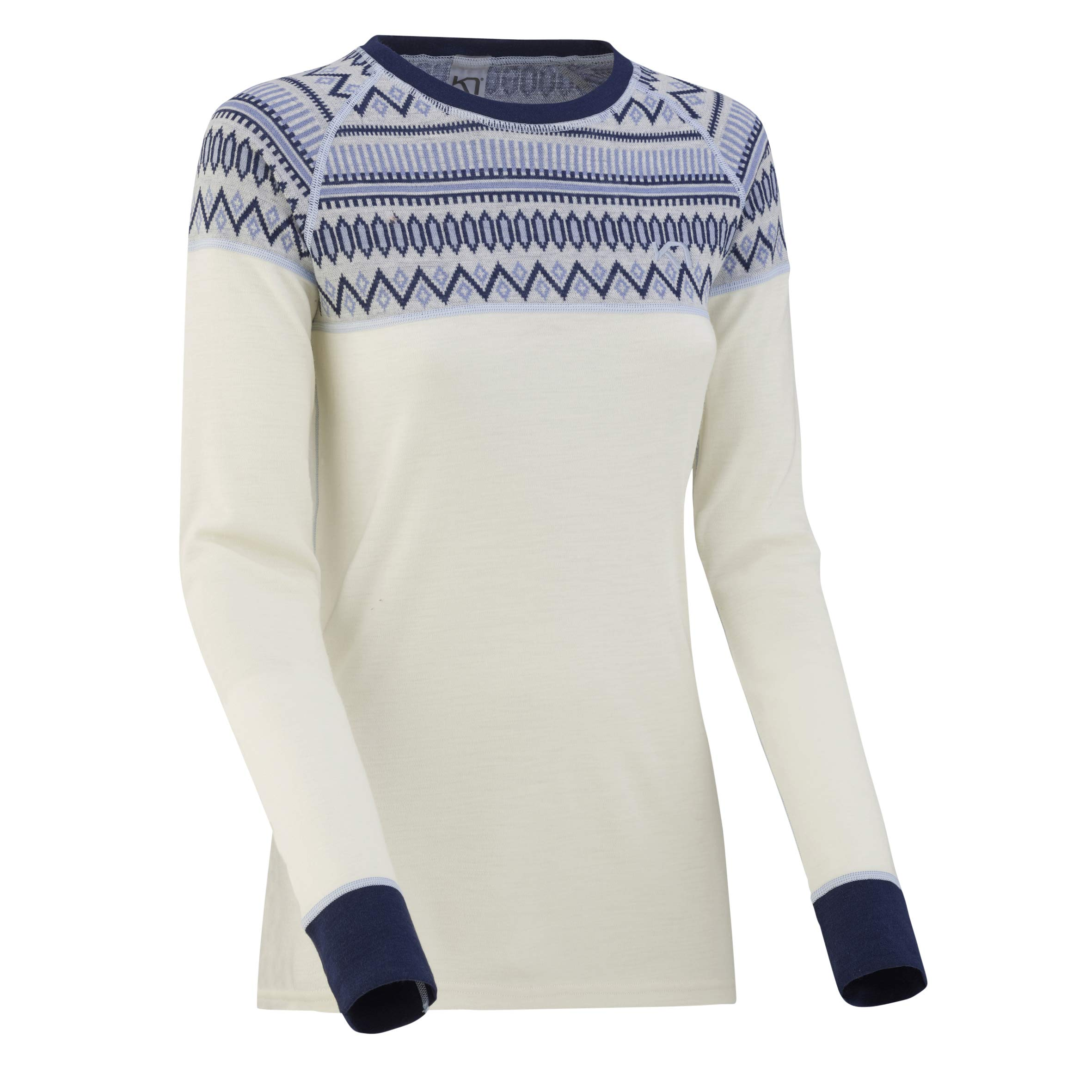 Kari Traa Women's Lokke Base Layer Top - Long Sleeve 100% Merino Wool Thermal Shirt