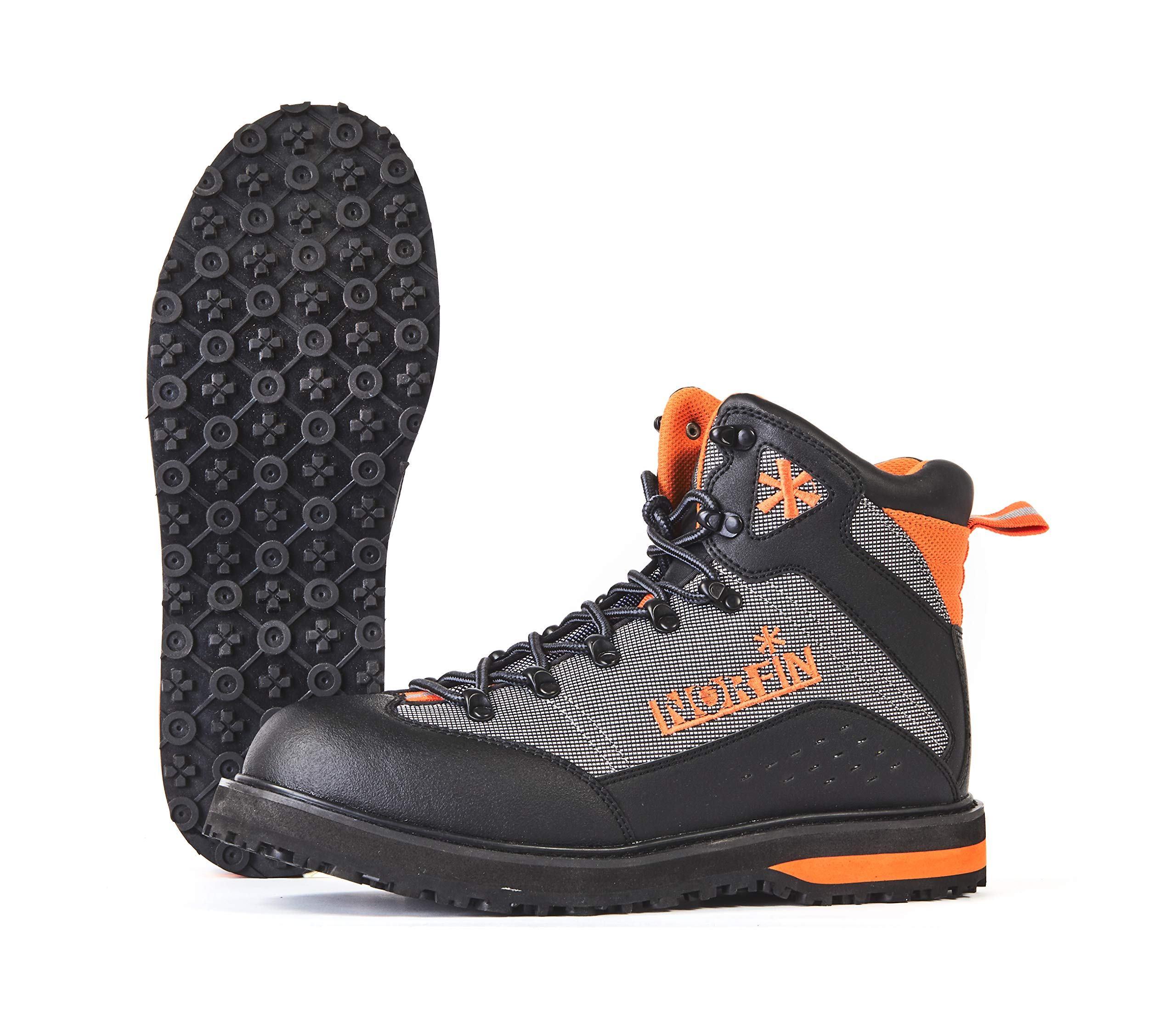 Norfin Edge - Wading Boots - Water Repellent Toe and Heel - Reinforced with PVC Leather - Light and Comfortable - Sole EVA+Rubber - Elastic Sole for Traction