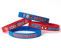 "Marvel's Ultimate Spider-Man Birthday Party Rubber Bracelet Favour, Pack Of 4, Blue/Red , 2.5 "" X .5"", Rubber"
