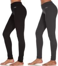 UNIQUE STYLES ASFOOR Women's High Waist Straight Leg Pajama Pants 2 Pack Tummy Control Workout Lounge Pants