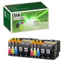 Limeink 10 Pack Remanufactured LC20E Super High Yield Ink Cartridges Compatible with MFC-J5920DW Series Printers LC20EBK LC20EM LC20EC XXL LC20EY (4 Black, 2 Cyan, 2 Magenta, 2 Yellow)