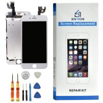 Sintron OEM LCD Screen Replacement - for iPhone 6 White Fully Assembled Including Original Parts Front Camera, Proximity Sensor, Earpiece, LCD Shield + Tools & Guide