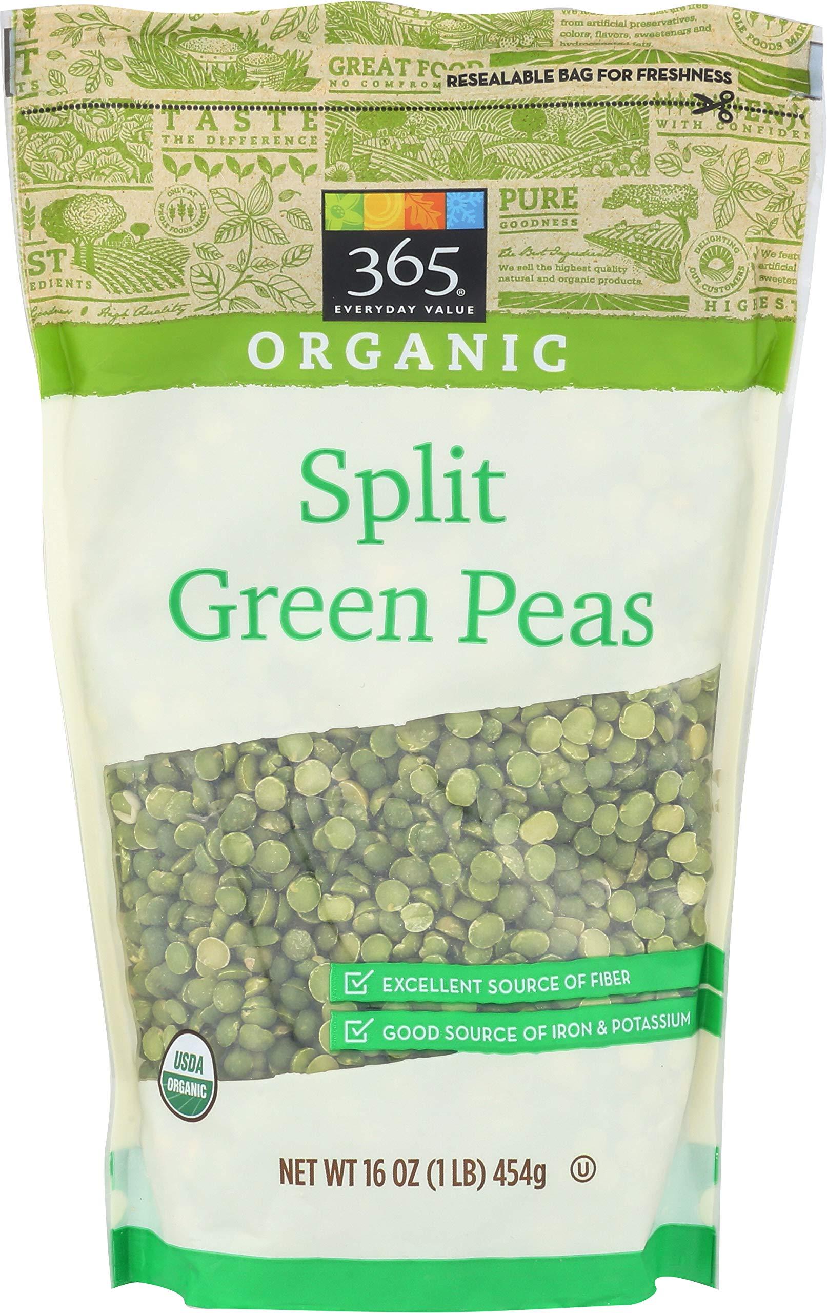 365 Everyday Value, Organic Split Green Peas, 16 oz