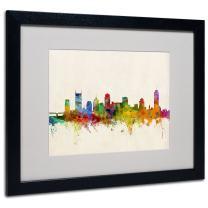Nashville Skyline by Michael Tompsett, White Matte, Black Frame 16x20-Inch