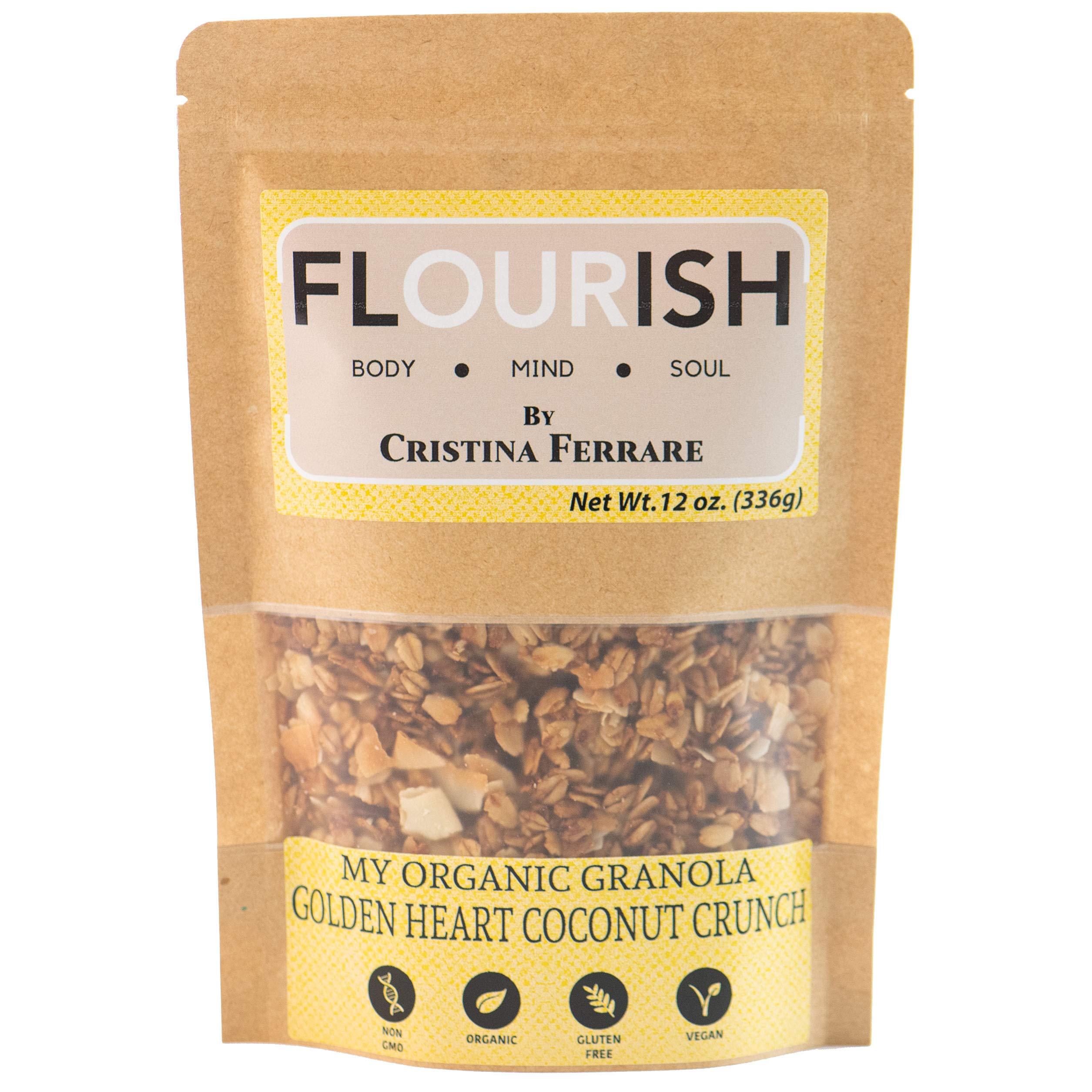 My Organic Granola By Cristina Ferrare (Golden Coconut Crunch) | Gluten-Free, Non GMO, Vegan, Healthy | 12 oz