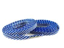Team Color Laces - (1pair) Flat, Striped, Two-Color Shoelaces