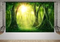 Kate 7x5ft Spring Magic Forest Photography Backdrops Green Tree Flowers Sunshine Backgrounds Nature Scenic Backdrop Princess Baby Children Photographic Photoshoot Props